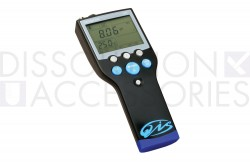 Portable pH meter for measuring pH in dissolution media or other types of applications where pH measuring is required.